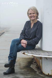 Portræt i tågen ved Amager